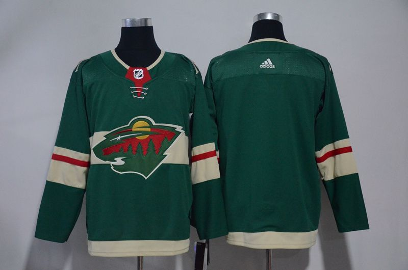 Men Minnesota Wild Blank Green Hockey Stitched Adidas NHL Jerseys