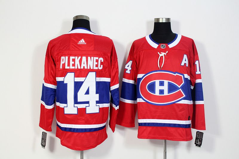 Men Montreal Canadiens 14 Plekanec Red Hockey Stitched Adidas NHL Jerseys