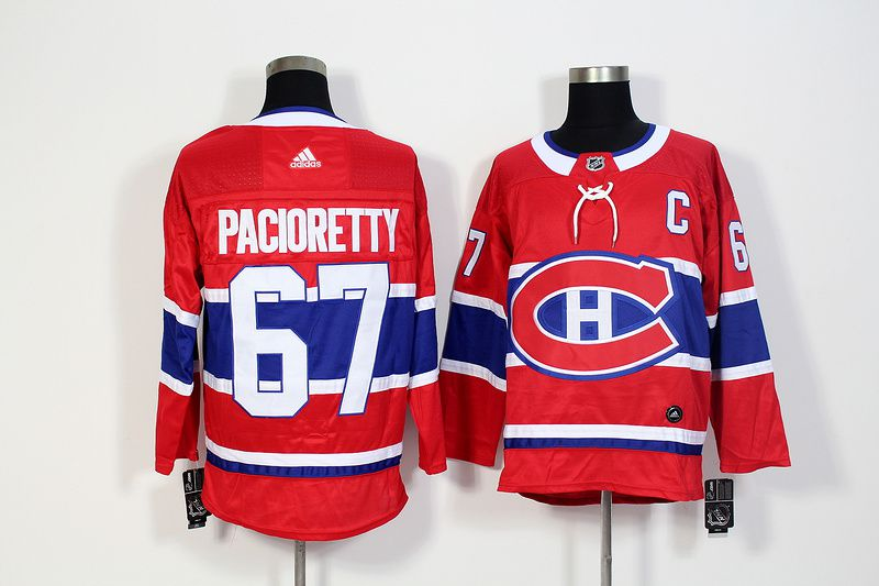 Men Montreal Canadiens 67 Pacioretty Red Hockey Stitched Adidas NHL Jerseys