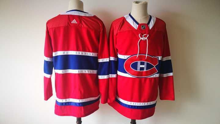 Men Montreal Canadiens Blank Red Hockey Stitched Adidas NHL Jerseys