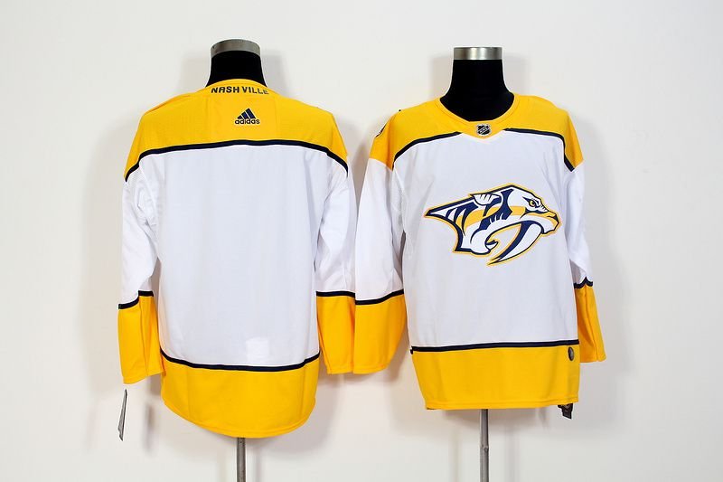 Men Nashville Predators Blank White Hockey Stitched Adidas NHL Jerseys