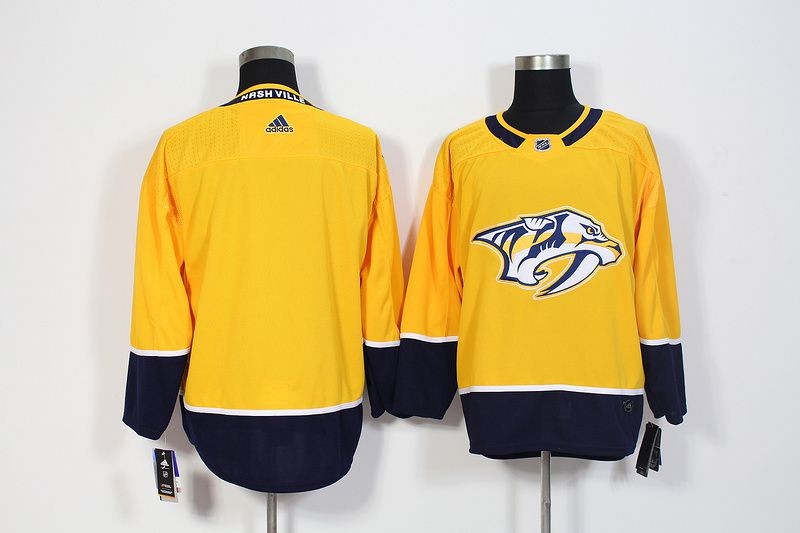 Men Nashville Predators Blank Yellow Hockey Stitched Adidas NHL Jerseys