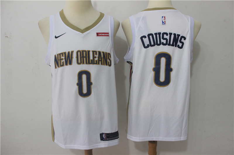 Men New Orleans Pelicans 0 Cousins White Game Nike NBA Jerseys