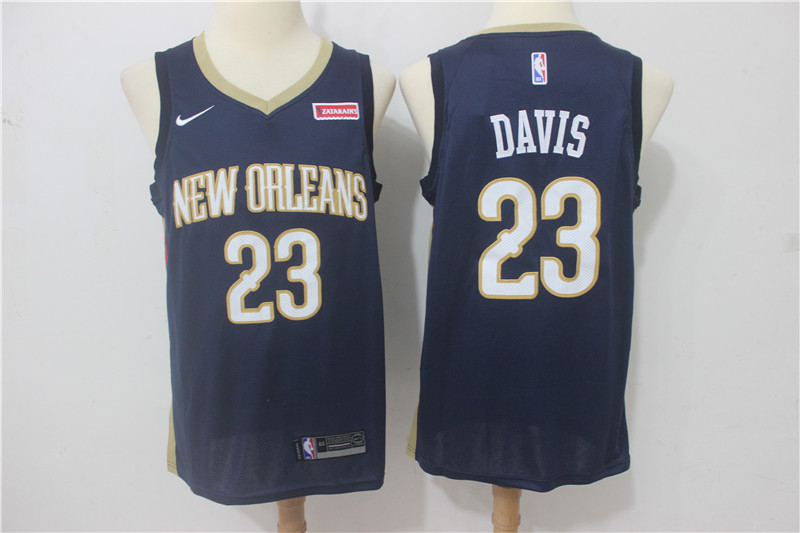 Men New Orleans Pelicans 23 Davis Blue Game Nike NBA Jerseys