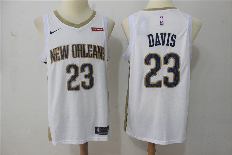 Men New Orleans Pelicans 23 Davis White Game Nike NBA Jerseys