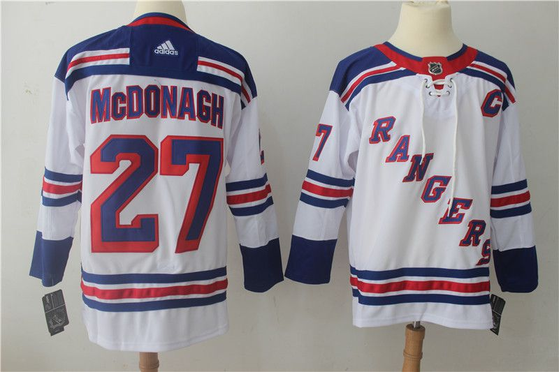 Men New York Rangers 27 Mcdonagh White Hockey Stitched Adidas NHL Jerseys