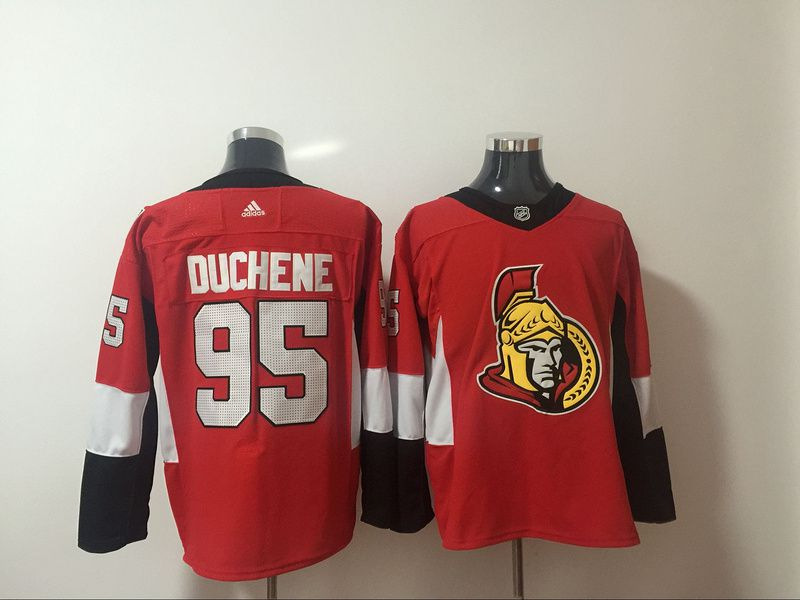 Men Ottawa Senators 95 Duchene Red Hockey Stitched Adidas NHL Jerseys