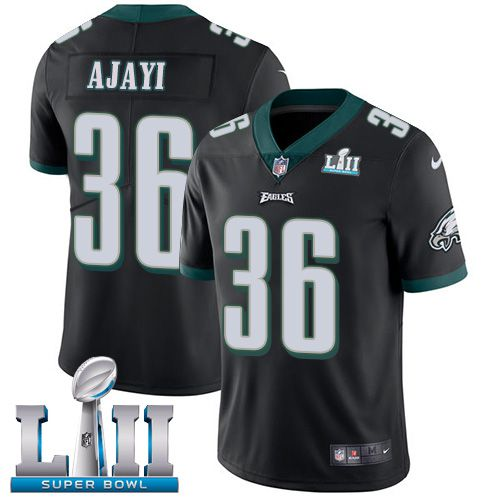 Men Philadelphia Eagles 36 Ajayi Black Limited 2018 Super Bowl NFL Jerseys