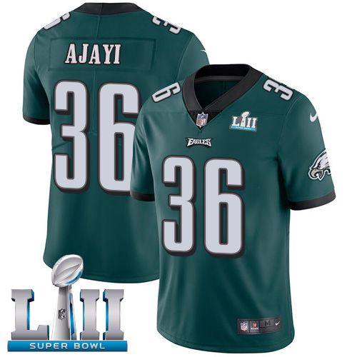 Men Philadelphia Eagles 36 Ajayi Green Limited 2018 Super Bowl NFL Jerseys