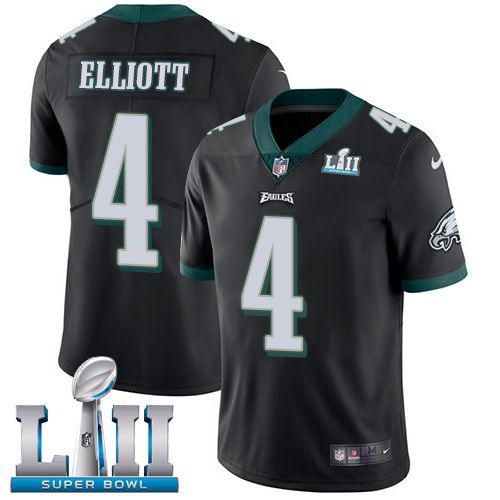 Men Philadelphia Eagles 4 Elliott Black Limited 2018 Super Bowl NFL Jerseys