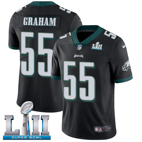 Men Philadelphia Eagles 55 Graham Black Limited 2018 Super Bowl NFL Jerseys