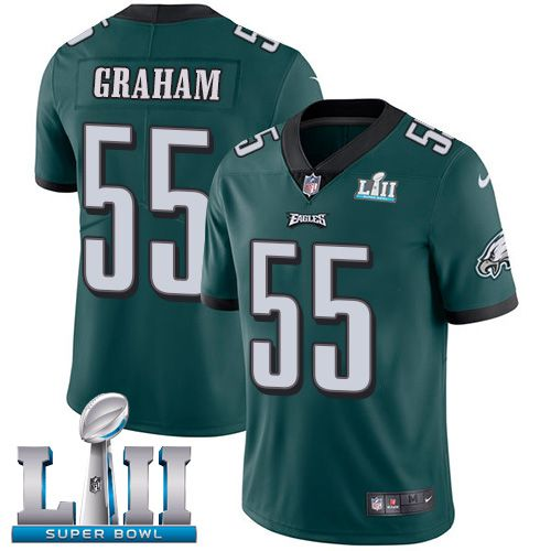 Men Philadelphia Eagles 55 Graham Green Limited 2018 Super Bowl NFL Jerseys
