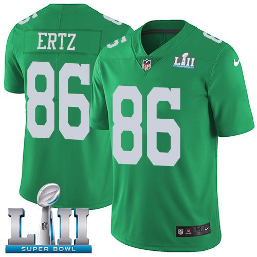 Men Philadelphia Eagles 86 Ertz Dark green Limited 2018 Super Bowl NFL Jerseys