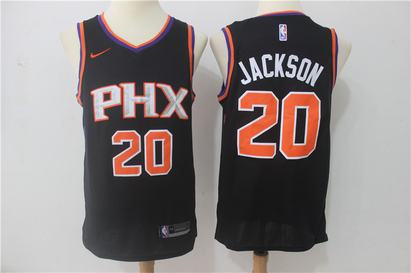 Men Phoenix Suns 20 Jackson Black Game Nike NBA Jerseys