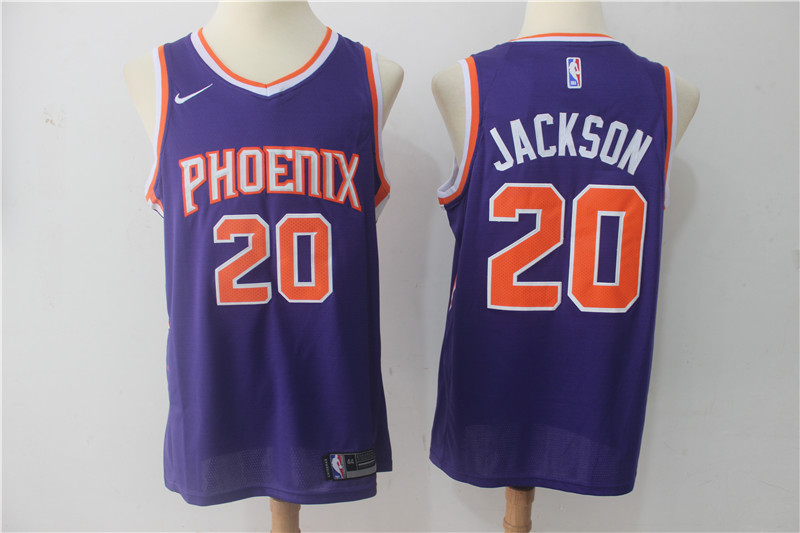 Men Phoenix Suns 20 Jackson Purple Game Nike NBA Jerseys