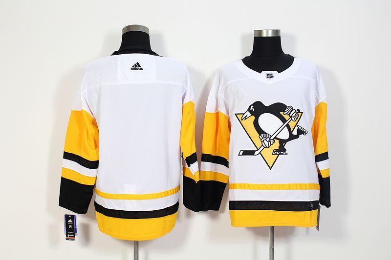 Men Pittsburgh Penguins blank White Hockey Stitched Adidas NHL Jerseys