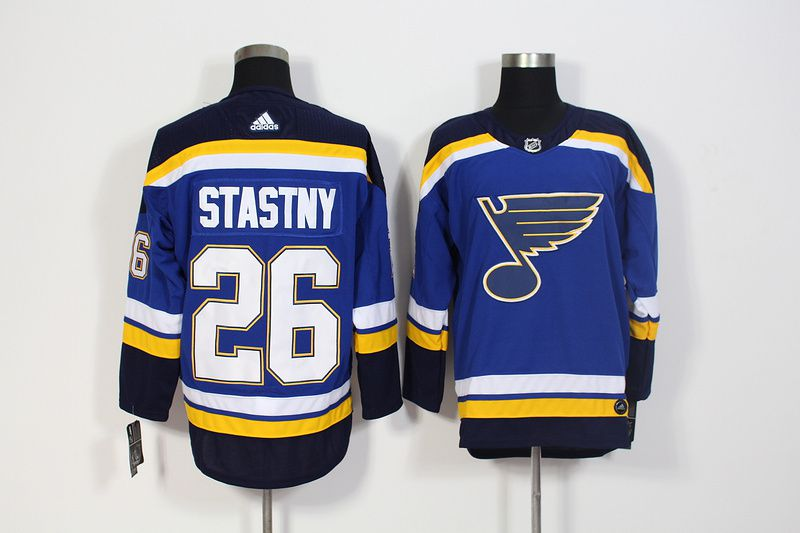 Men St. Louis Blues 26 Stastny Blue Hockey Stitched Adidas NHL Jerseys