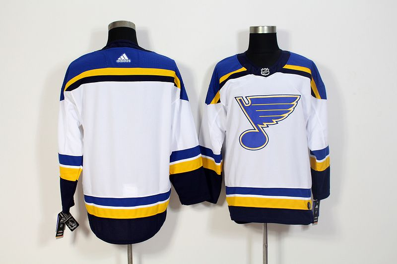 Men St. Louis Blues blank White Adidas Hockey Stitched NHL Jerseys