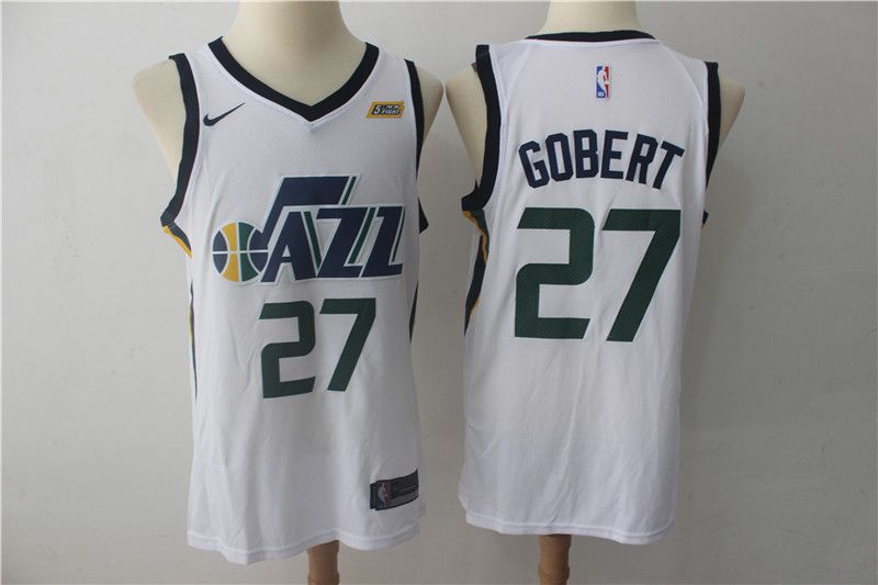 Men Utah Jazz 27 Gobert White Nike NBA Jerseys
