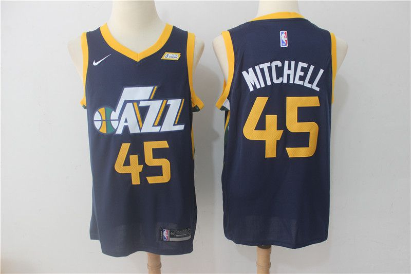 Men Utah Jazz 45 Mitchell Blue Nike NBA Jerseys
