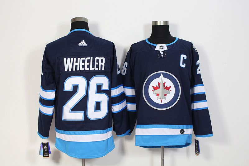 Men Winnipeg Jets 26 Wheeler Blue Hockey Stitched Adidas NHL Jerseys