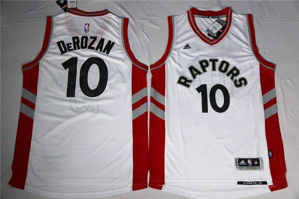 NBA Toronto Raptors 10 Derozan White Jerseys