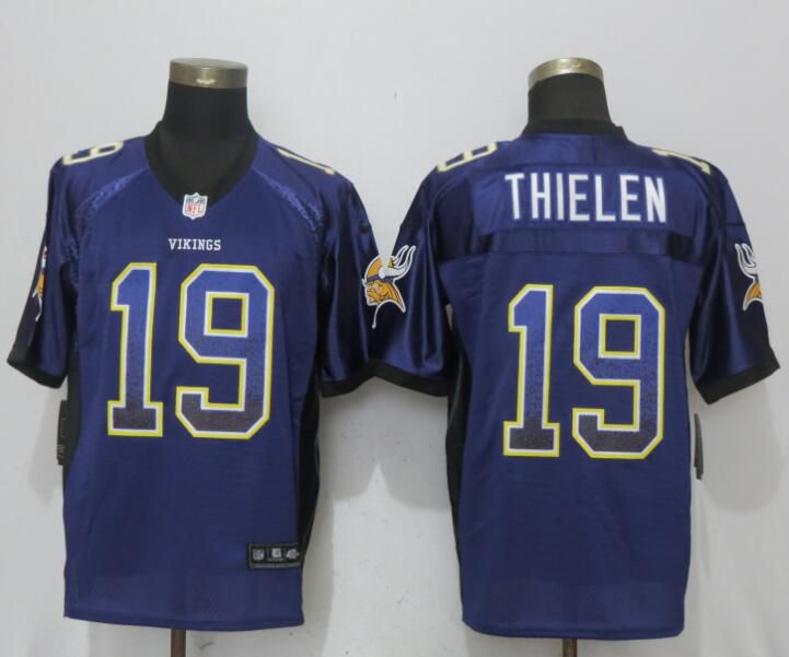 NFL Men NEW Nike Minnesota Vikings 19 Thielen Drift Fashion Purple Elite Jersey