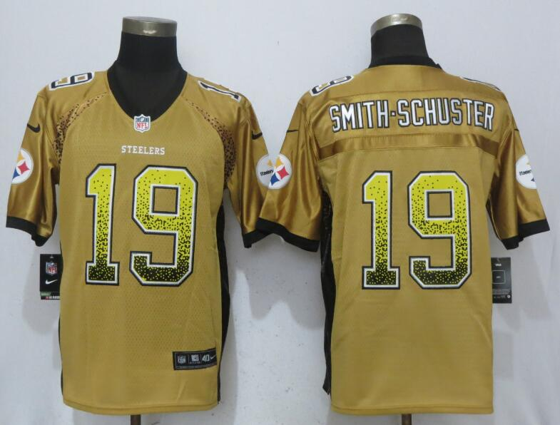 NFL Men NEW Nike Pittsburgh Steelers 19 Smith-schuster Drift Fashion Gold Elite Jersey