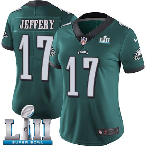 Women Philadelphia Eagles 17 Jeffery Green Limited 2018 Super Bowl NFL Jerseys