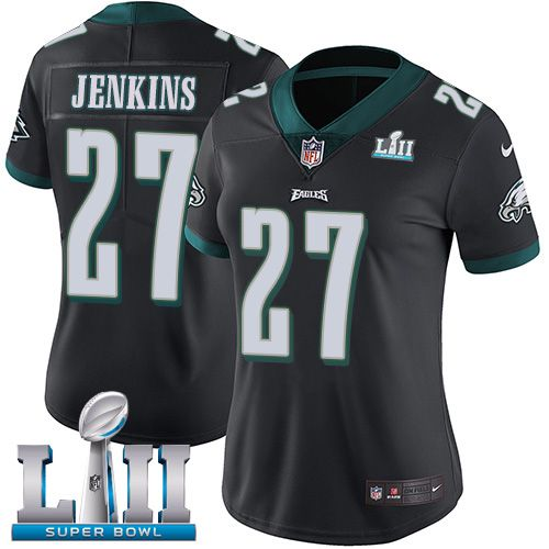 Women Philadelphia Eagles 27 Jenkins Black Limited 2018 Super Bowl NFL Jerseys