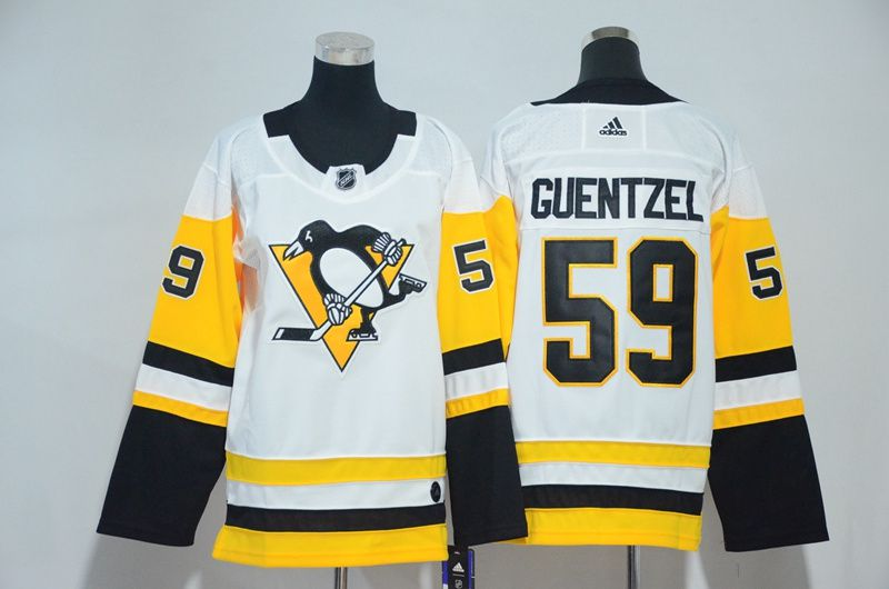 Women Pittsburgh Penguins 59 Guentzel White Hockey Stitched Adidas NHL Jerseys