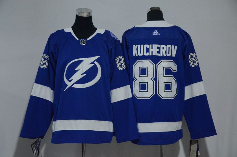 Women Tampa Bay Lightning 86 Kucherov Blue Hockey Stitched Adidas NHL Jerseys