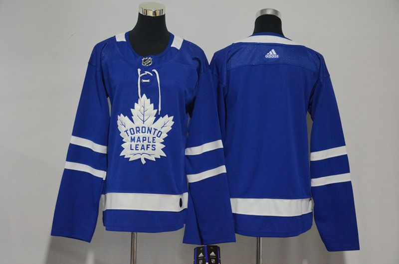 Women Toronto Maple Leafs Blank Blue Hockey Stitched Adidas NHL Jerseys
