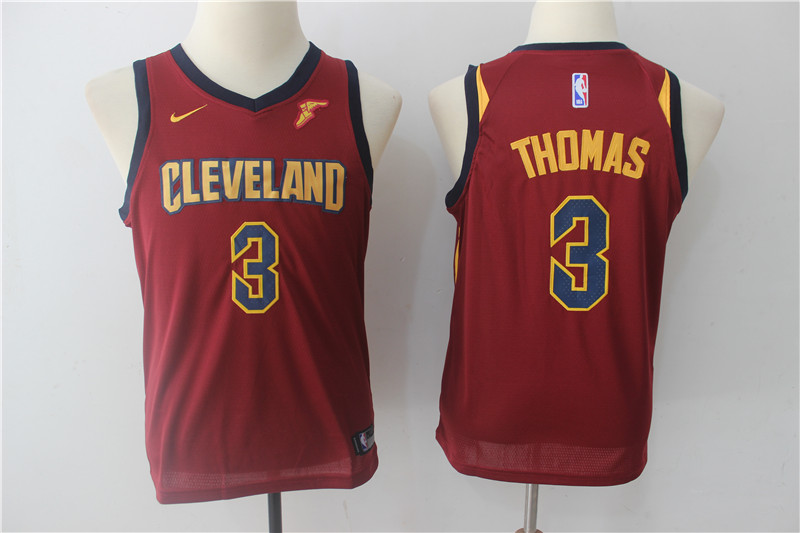 Youth Cleveland Cavaliers 3 Thomas Red Game Nike NBA Jerseys