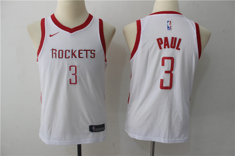 Youth Houston Rockets 3 Paul White Game Nike NBA Jerseys
