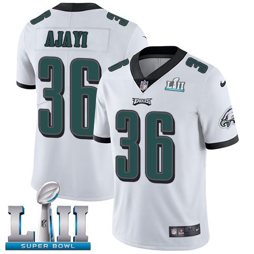 Youth Philadelphia Eagles 36 Ajayi White Limited 2018 Super Bowl NFL Jerseys