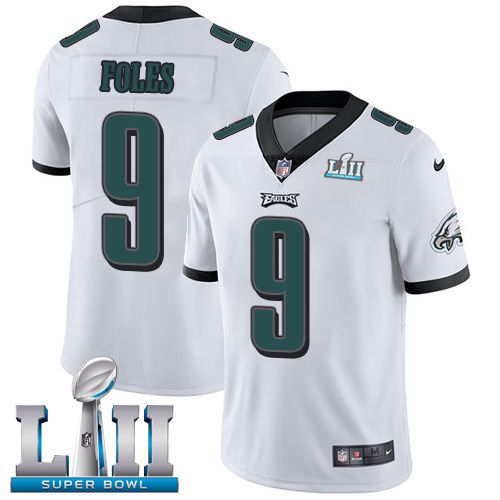 Youth Philadelphia Eagles 9 Foles White Limited 2018 Super Bowl NFL Jerseys