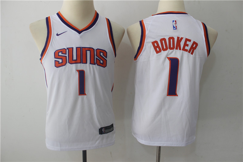 Youth Phoenix Suns 1 Booker White Game Nike NBA Jerseys