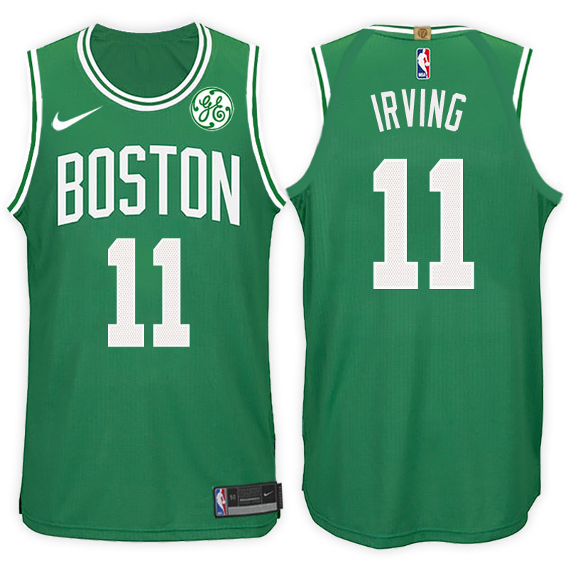 Men Boston Celtics 11 Kyrie Irving Green NBA Jersey