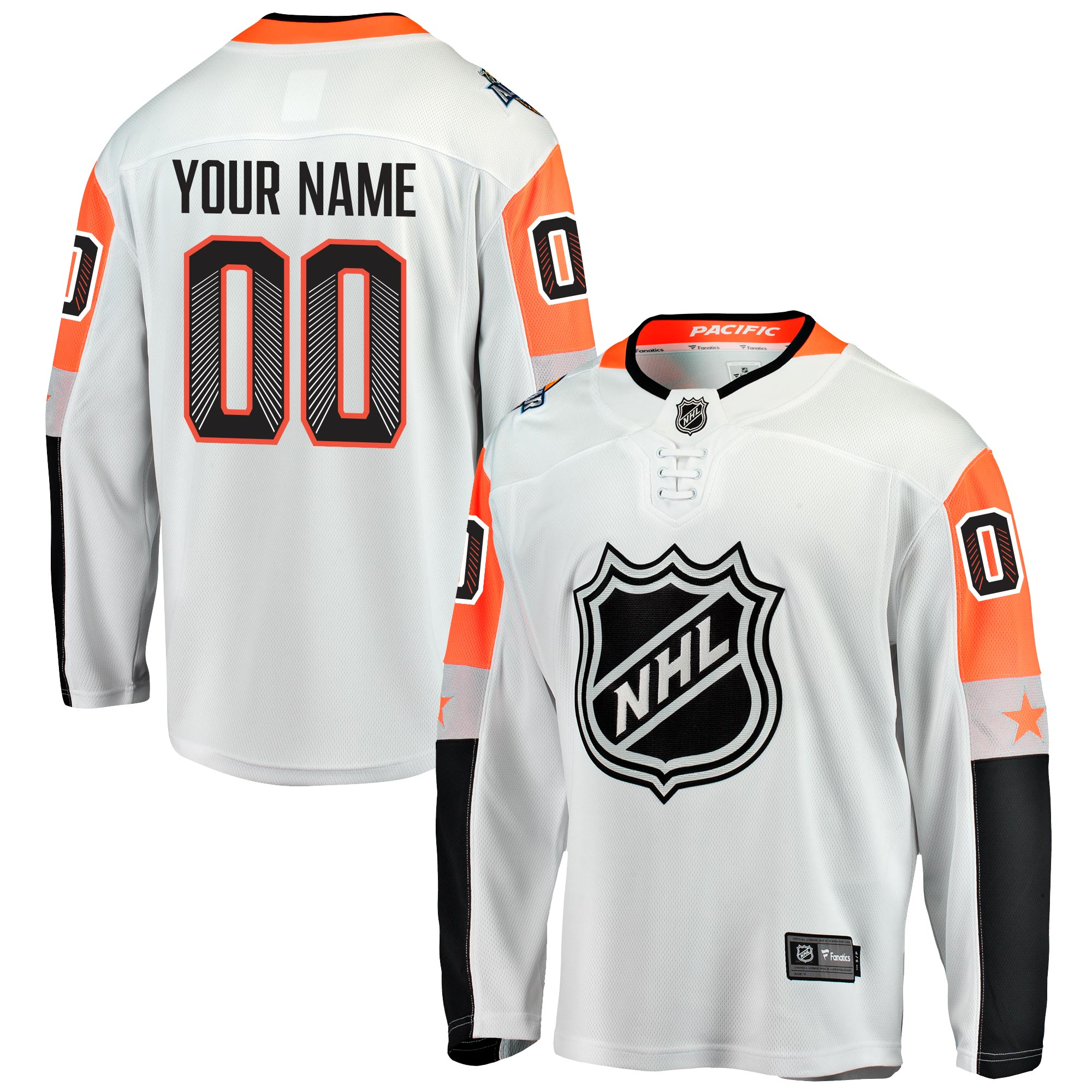 Mens NHL Pacific Division All Star Fanatics Branded Breakaway Jersey Customised