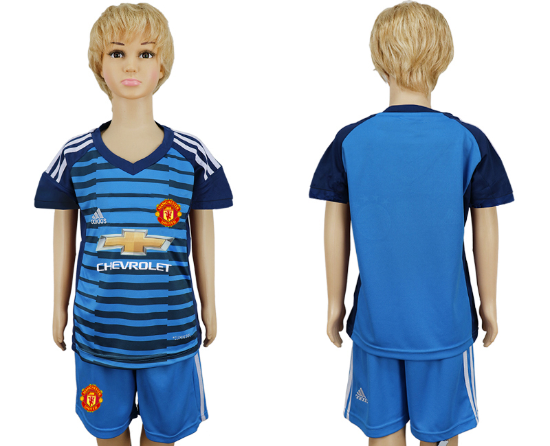 2017-2018 club Manchester united goalkeeper kids soccer jersey