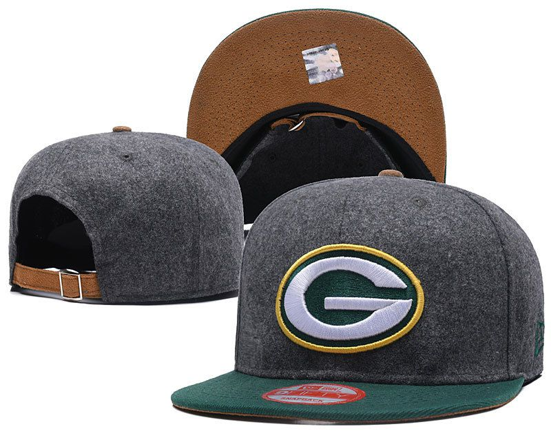 2018 NFL Green Bay Packers Snapback hat DFmy
