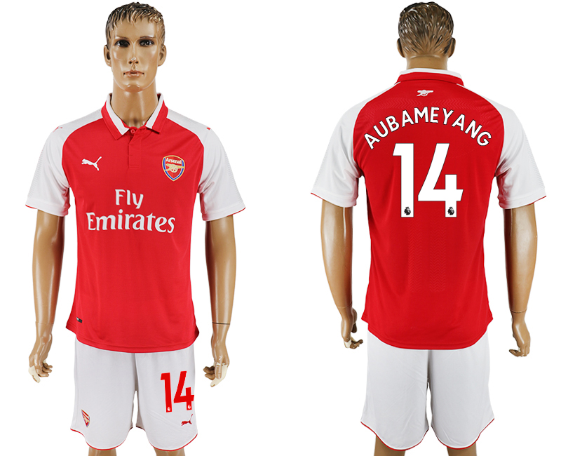 Men 2017-2018 club Arsenal home 14 red soccer jersey