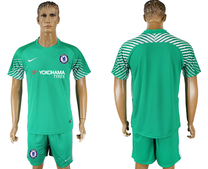 Men 2017-2018 club Chelsea green goalkeeper soccer jersey