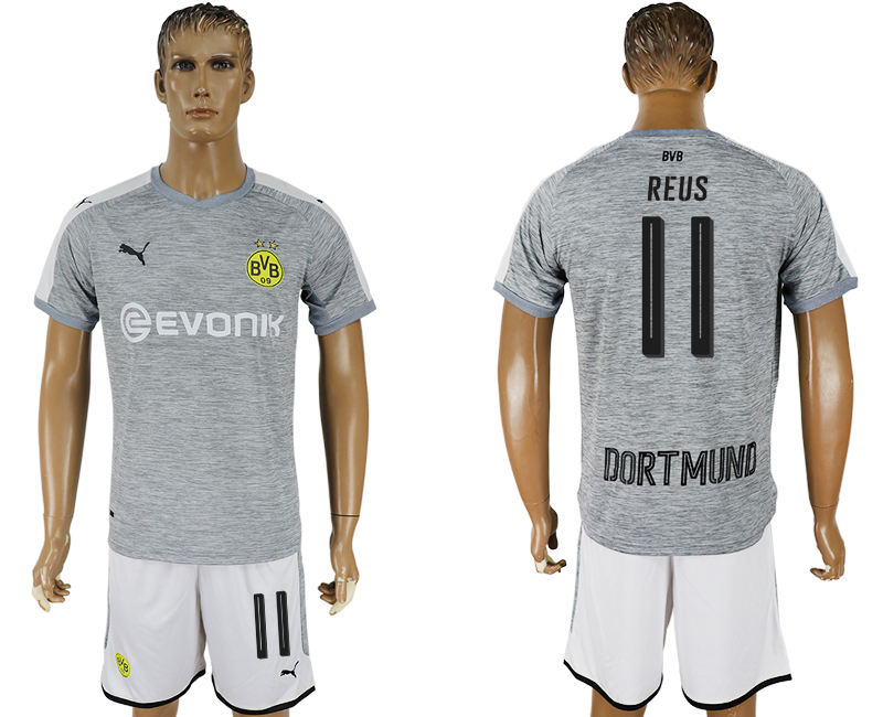 Men 2017-2018 club Dortmund champions league away 11 grey soccer jersey