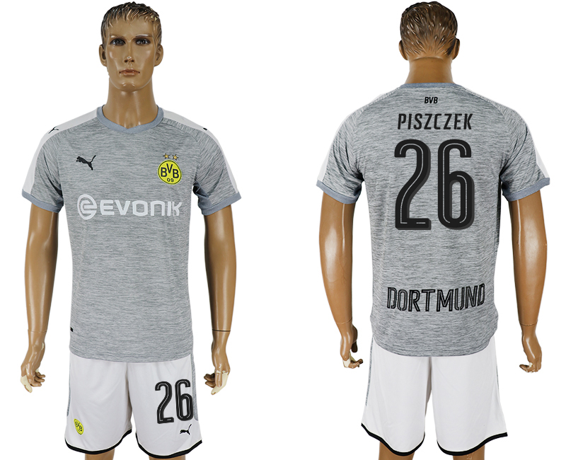 Men 2017-2018 club Dortmund champions league away 26 grey soccer jersey