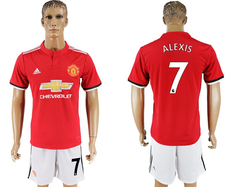Men 2017-2018 club Manchester United home 7 red soccer jersey