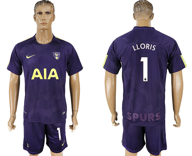 Men 2017-2018 club Tottenham Hotspur away 1 blue soccer jersey