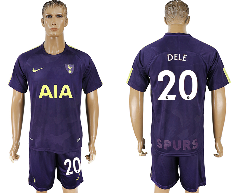 Men 2017-2018 club Tottenham Hotspur away 20 blue soccer jersey