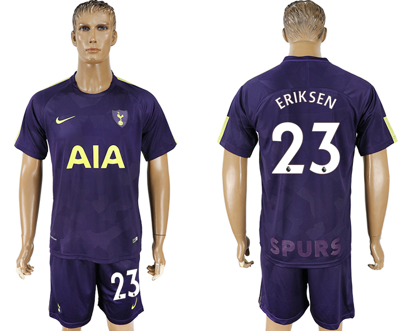 Men 2017-2018 club Tottenham Hotspur away 23 blue soccer jersey